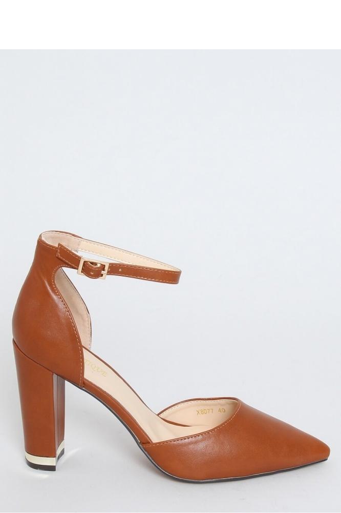 Pantofi dcu toc gros model 151956 Inello maro