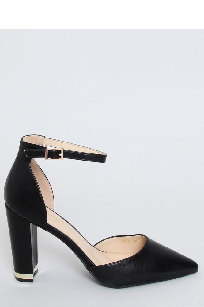 Pantofi dcu toc gros model 151957 Inello negru