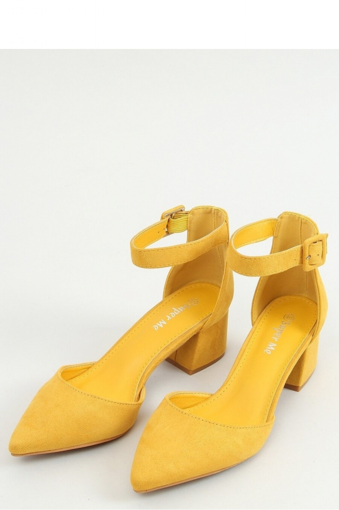 Pantofi dcu toc gros model 156301 Inello galben