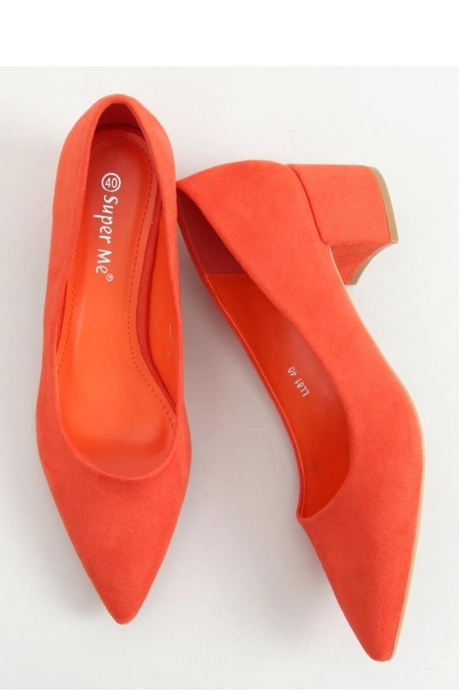 Pantofi dcu toc gros model 156324 Inello portocaliu