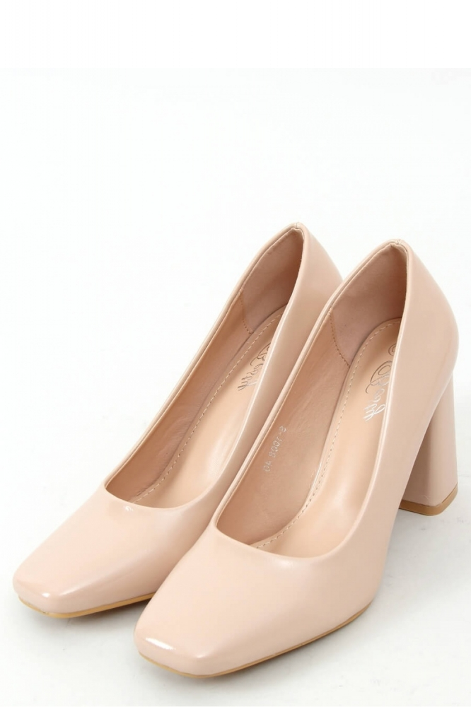 Pantofi cu toc gros Model 157979 Inello bej