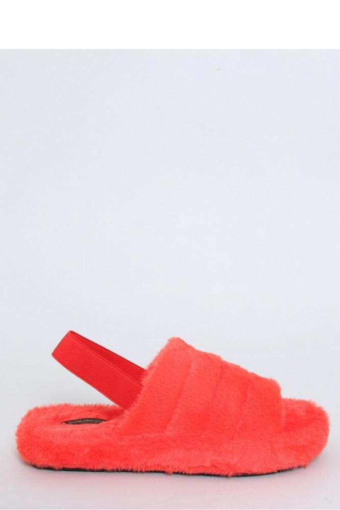 Papuci cu blana Model 151947 Inello portocaliu
