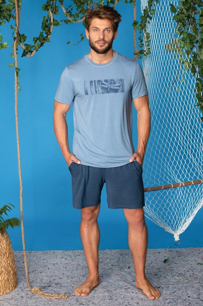 Pijama model 141783 Key albastru