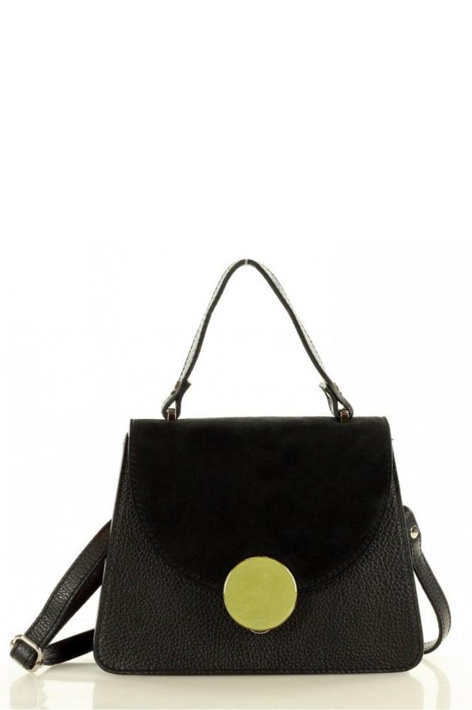 Poseta din piele naturala model 150887 Mazzini negru