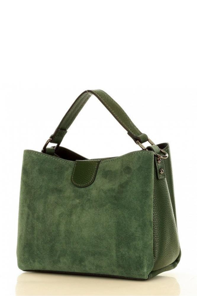 Poseta din piele naturala model 153751 Mazzini verde