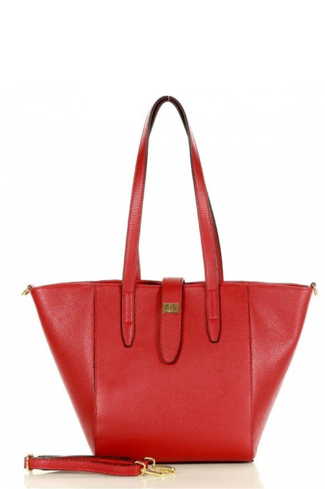 Poseta din piele naturala model 157875 Mazzini rosu