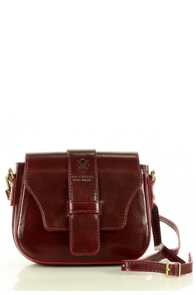 Poseta din piele naturala model 157946 Mazzini rosu