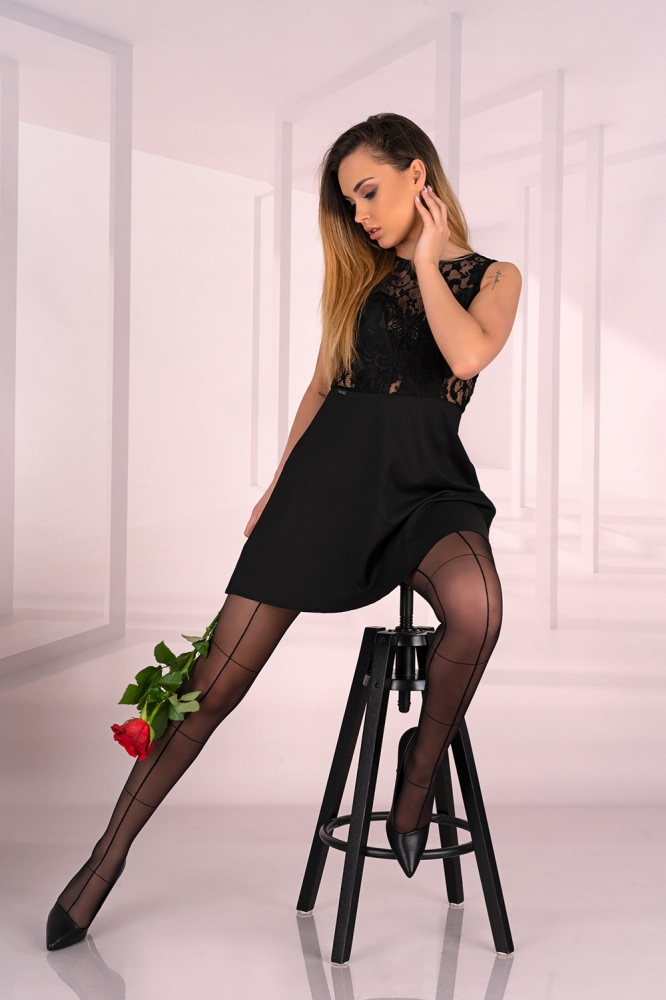 Rajstopy Model Cerissem 20 Den Black - Livia Corsetti Fashion negru