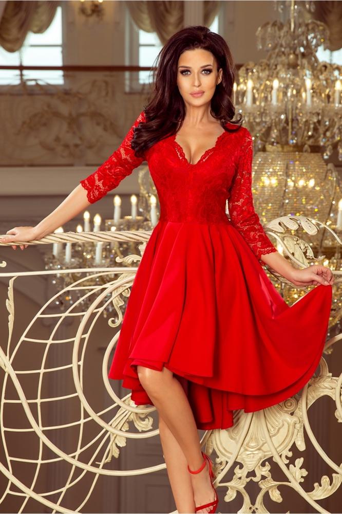 Rochie de ocazie pentru femei plinute Model 128947 Numoco rosu