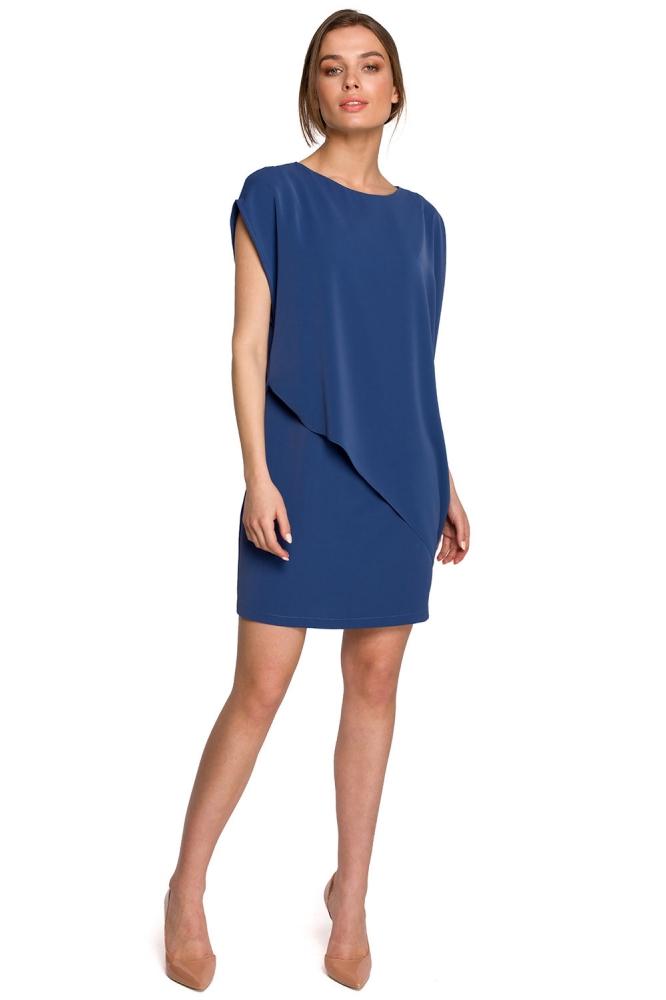Rochie de zi model 154076 Style albastru