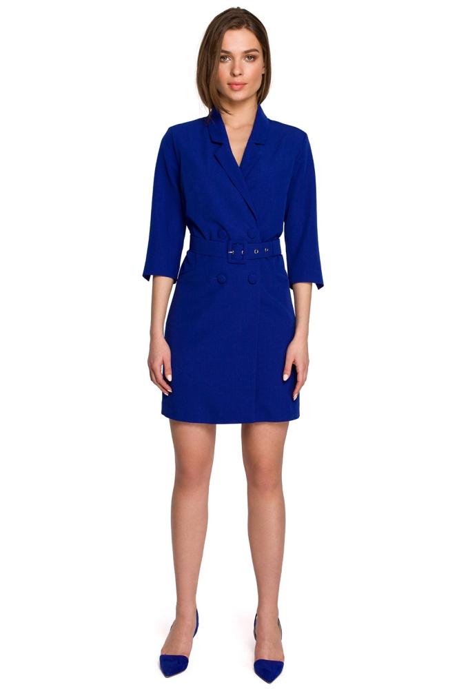 Rochie de zi model 154111 Style albastru