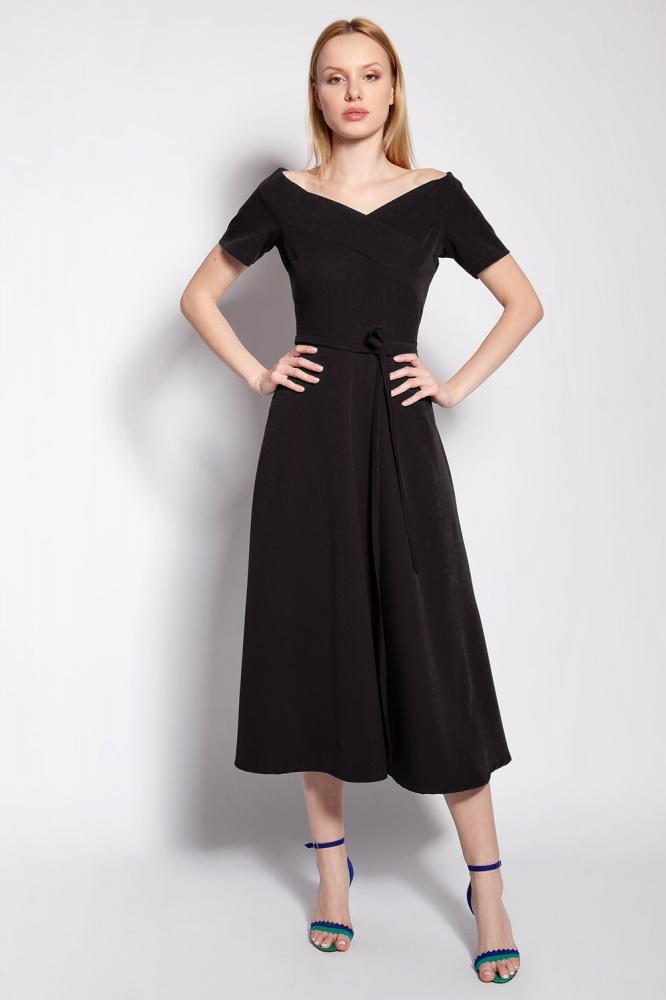 Rochie midi eleganta Model 151140 Lanti negru
