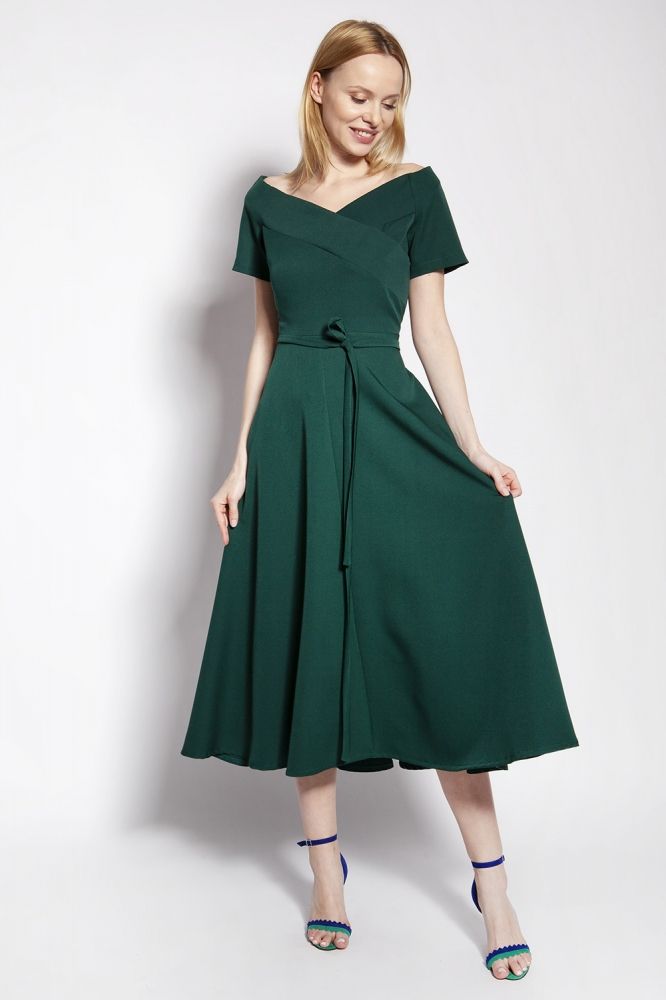 Rochie midi eleganta Model 151161 Lanti verde