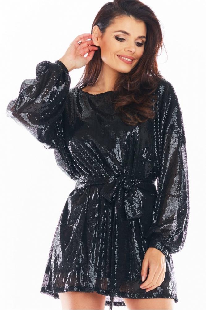 Rochie eleganta paiete Model 150763 awama negru