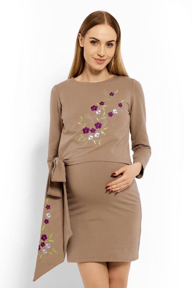 Rochii maternitate model 113210 PeeKaBoo bej
