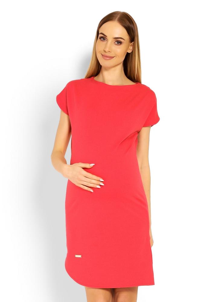Rochii maternitate model 114496 PeeKaBoo rosu