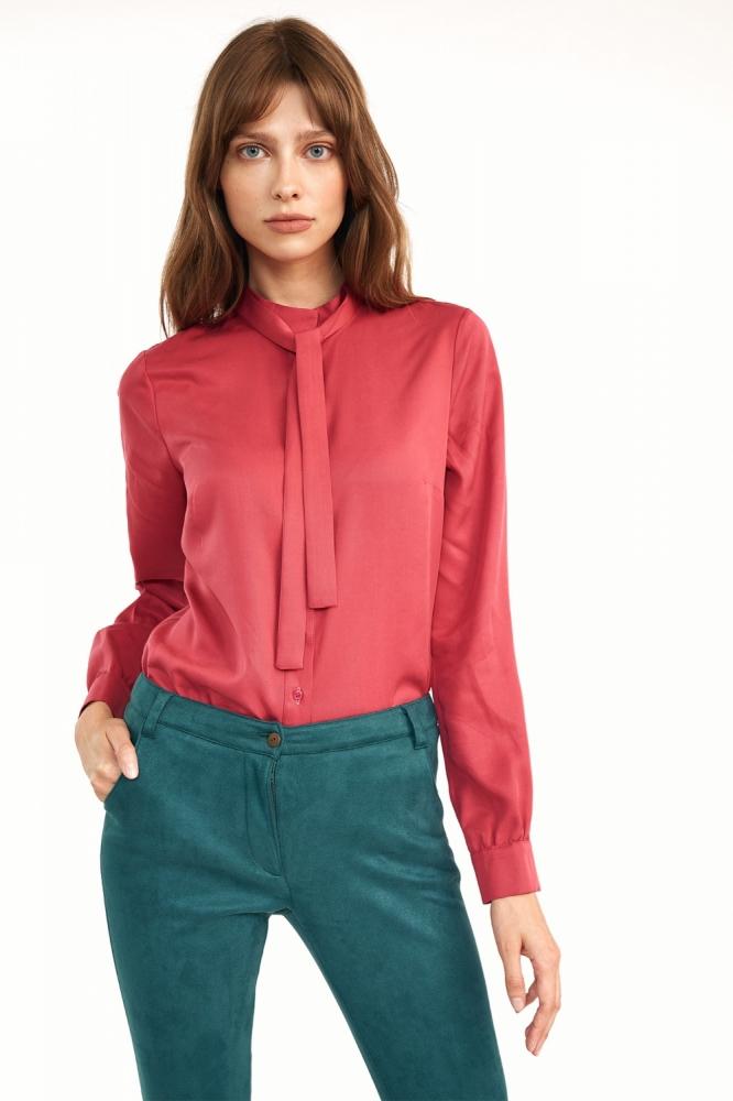 Rozowa bluzka z fontaziem B138 Pink - Nife roz