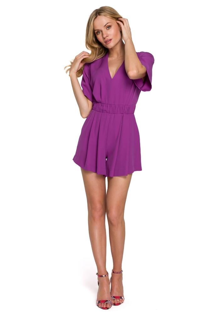 Salopeta cu pantaloni scurti Model 153787 Makover violet
