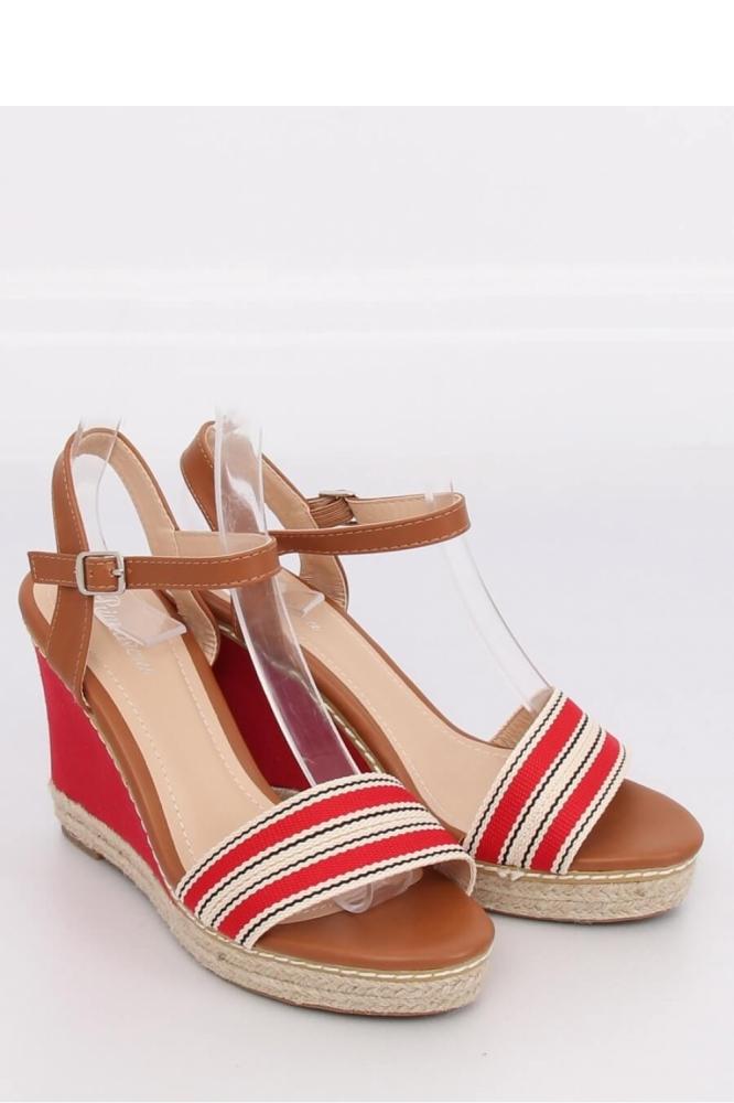 Sandale cu toc model 130294 Inello rosu