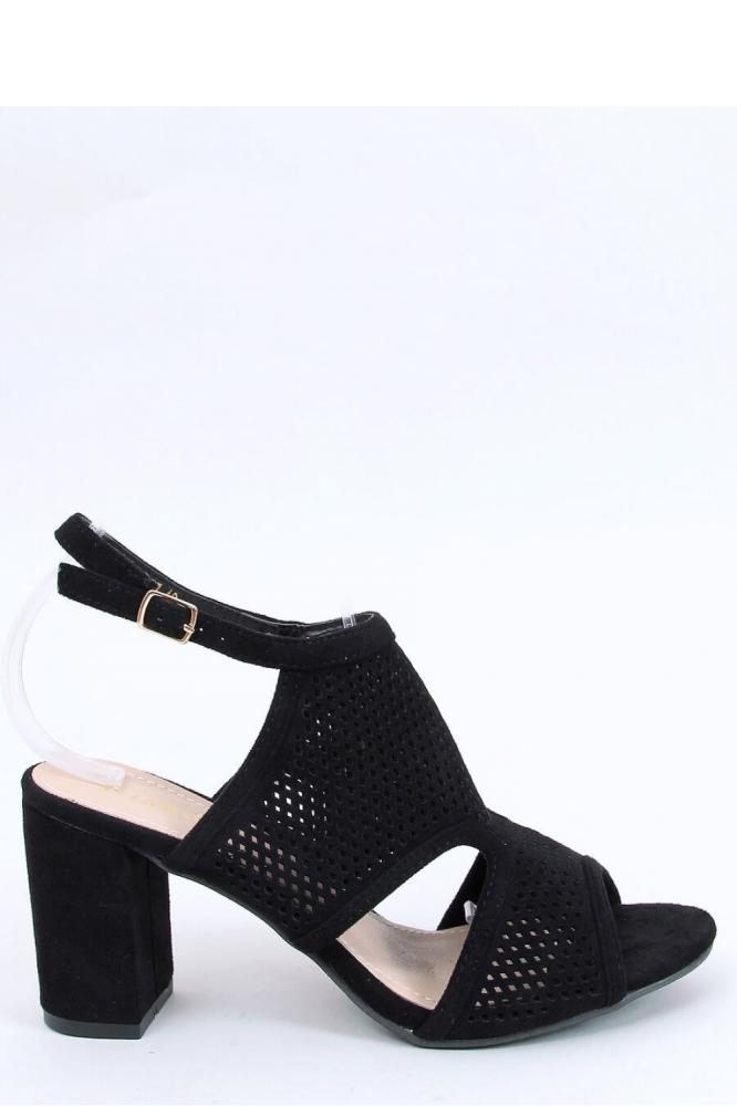 Sandale cu toc gros Model 154008 Inello negru