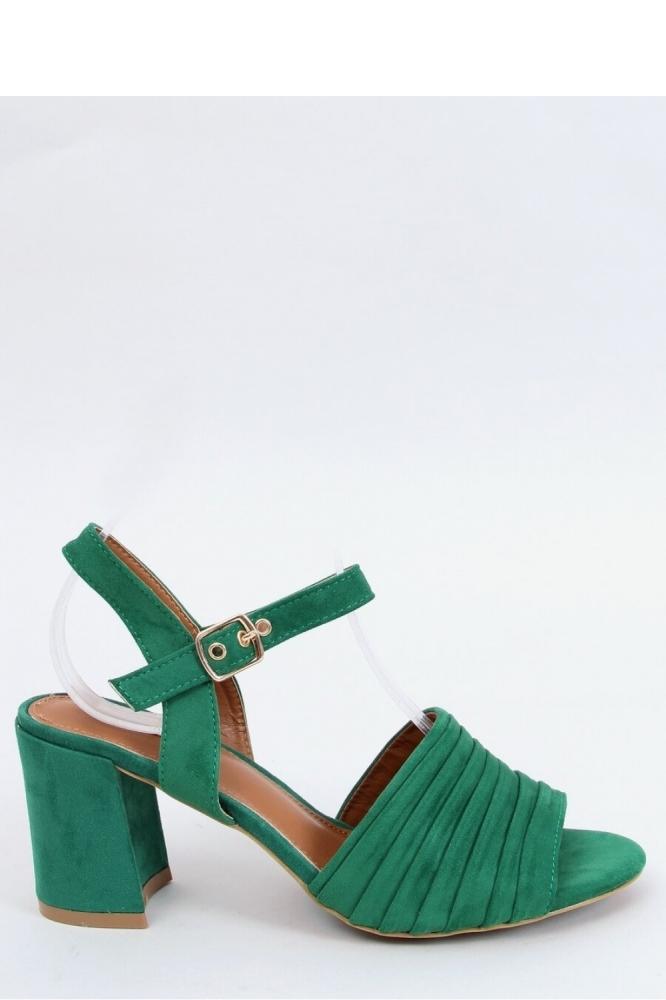 Sandale elegante cu toc gros Model 154010 Inello verde