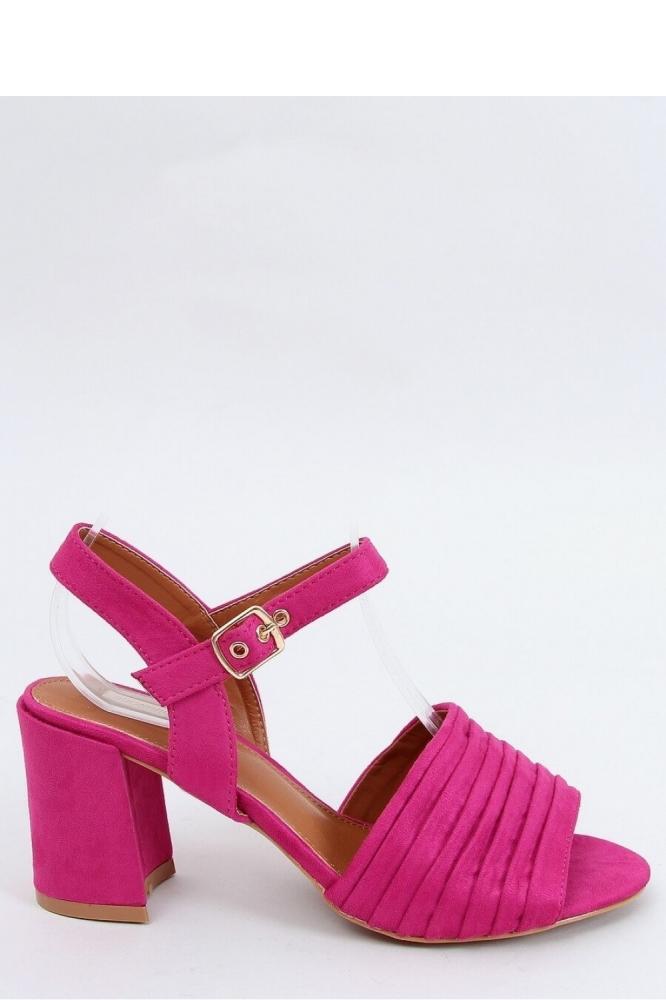 Sandale elegante cu toc gros Model 154011 Inello roz