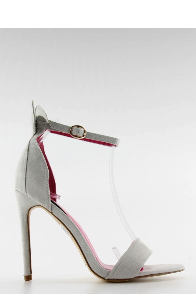Sandale cu toc model 84732 Inello gri