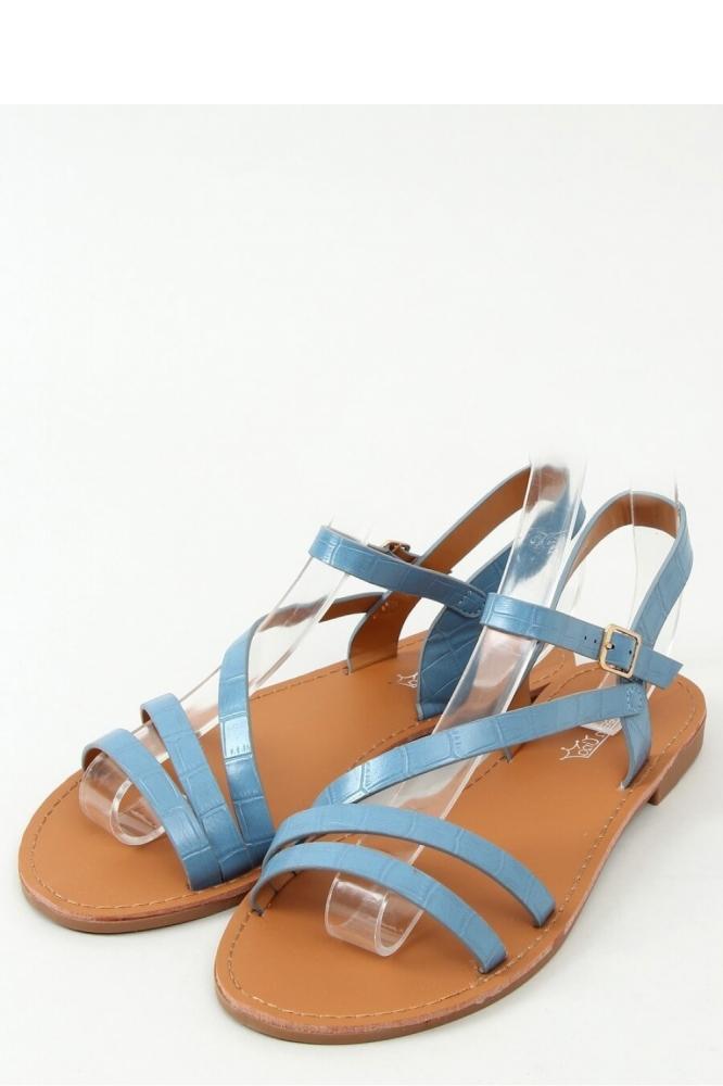 Sandale fara toc Model 156321 Inello albastru
