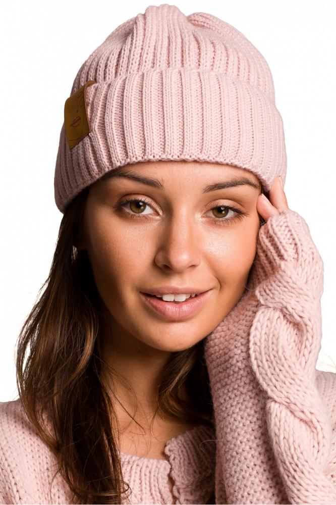 Caciula tricotata iarna Model 148905 BE Knit roz