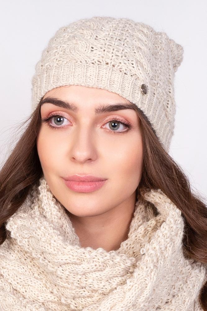Caciula tricotata iarna Model 151087 Lanti bej