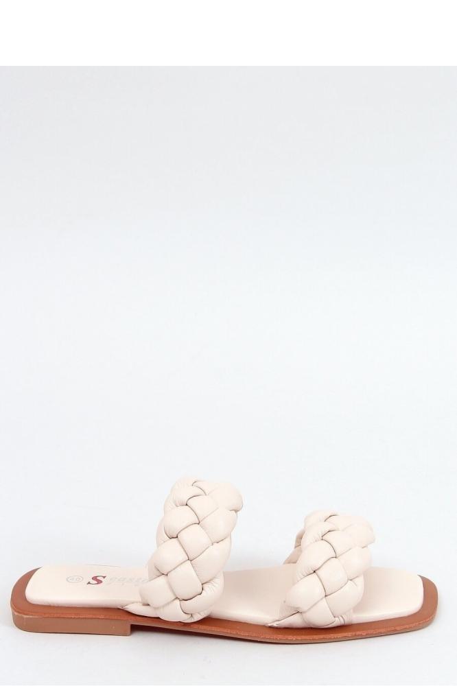 Papuci eleganti Model 154013 Inello bej