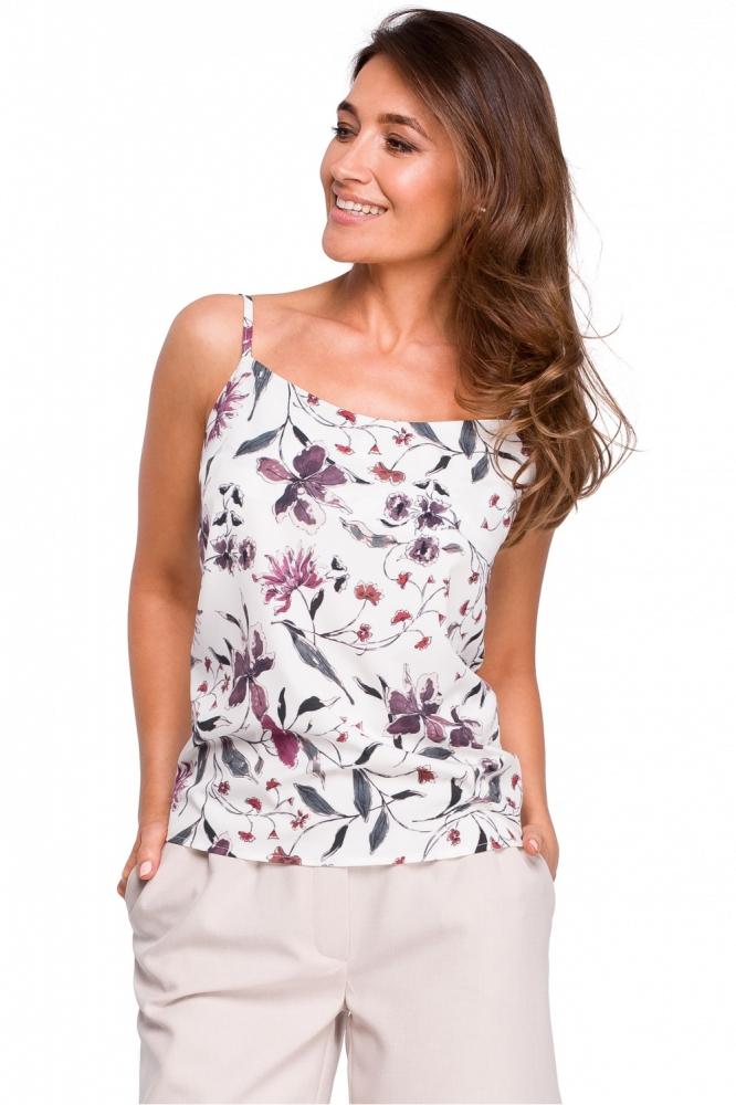 Top vara cu imprimeu floral Model 132578 Style alb