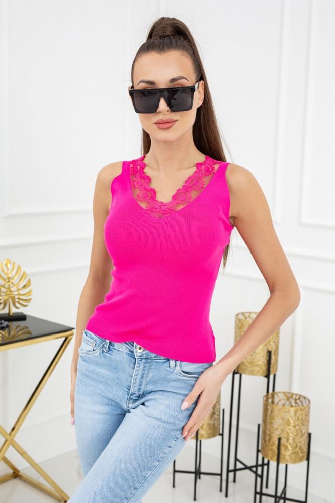 Top dantela Model 152713 Vittoria Ventini roz