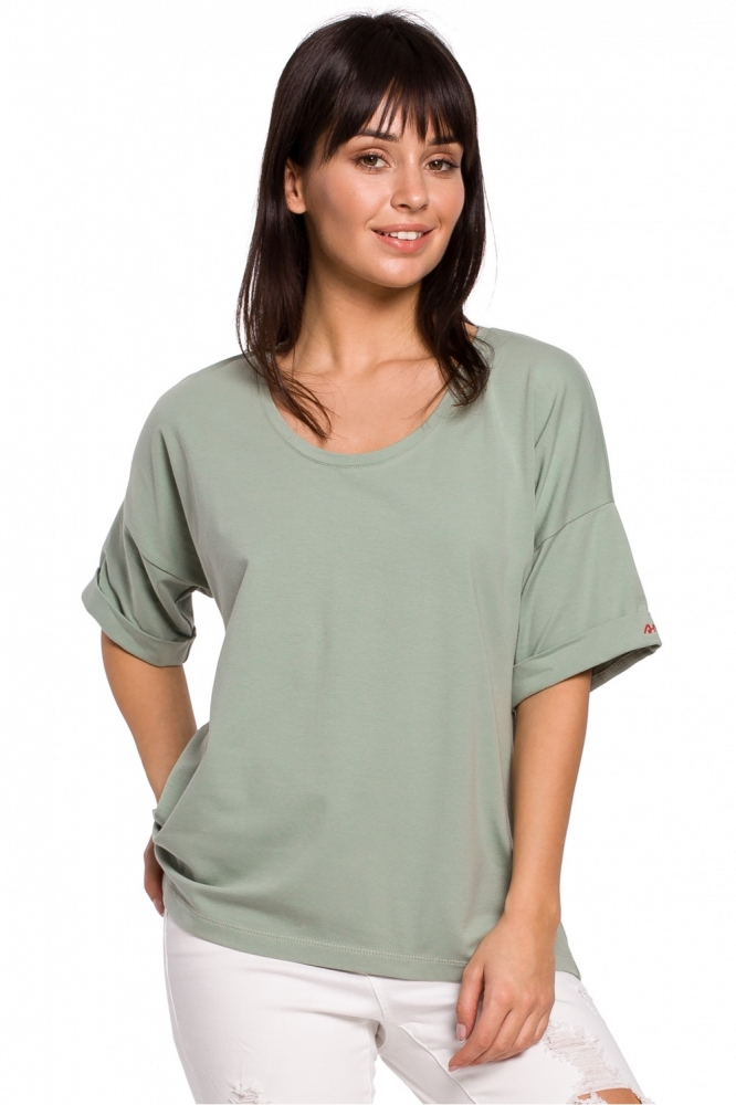 Tricou lejer maneca scurta Model 141467 BE verde