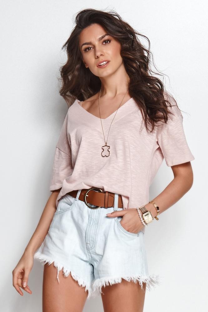 Tricou casual Model 153575 Numinou roz