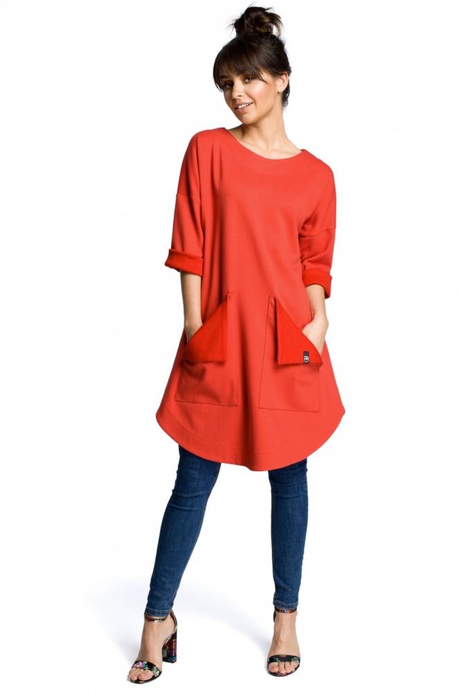 Bluza lunga Model 113847 BE rosu